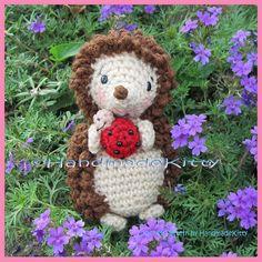 Hedgehog with Little Friend Ladybug Amigurumi Crochet Pattern by HandmadeKitty by HandmadeKitty=^_^=, via Flickr.
