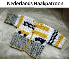 Nederlands Haakpatroon Baby Vest Grand Prix  door ElodyKnitsforKids