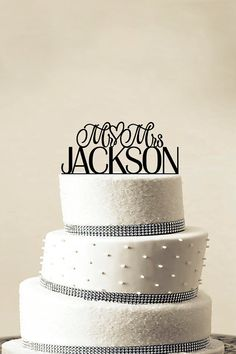 Custom Cake topper; 30 Unique Wedding Decorations From Etsy | StyleCaster