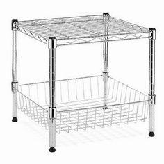 HDX Modular 14.75 in. x 13.8 in. Stacking Shelf with Basket-EH-WSHDU-003 - The Home Depot