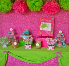 "Photo 2 of 22: frog / Birthday ""Cate's Pink and Green Frog Princess Party"" 