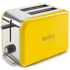 kMix 2-Slice Toaster - Yellow  Item Number: DGI DTT02YE  $99.95