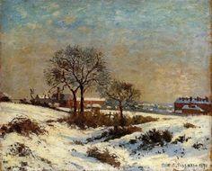 Camille Pissarro,  Snowy Landscape at South Norwood, 1871 on ArtStack #camille-pissarro #art