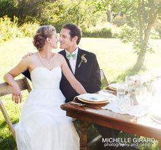 Michelle Girard Photography | Eutopia Events Planner | LaSalle Florists | Celia Grace wedding dress | Prosperity Candle Favors | Makeup Artistry by Liz