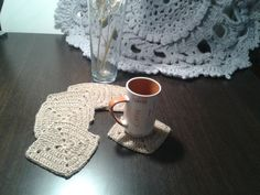 the coasters handmade от SunHeatIntheHouse на Etsy