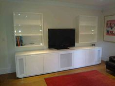 Captivating Home Theater Cabinet Design