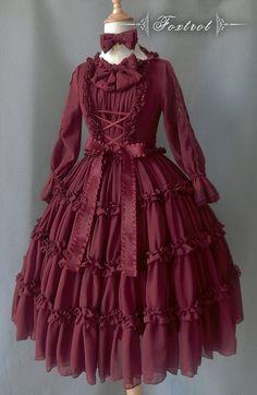 1800s Fashion, Victorian Fashion, Victorian Era, Vintage Style Outfits, Vintage Dresses, Lolita Fashion, Girl Fashion, Stylish Kurtis Design, Pretty Prom Dresses