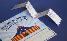 invitation fête d'anniversaire thème cirque by charlot via abracadacraft #printable #cirque