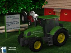 012 - Ref. FarmScene :: 3D Farm Scene - TAEVision Engineering - Solutions for Agriculture, Farm...
