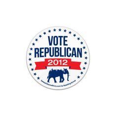 vote Republican 2012 lapel pin