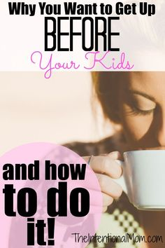 Are you wondering why you want to get up before your kids? I've got eight reasons, and I've got eight tips that will tell you how to do it!