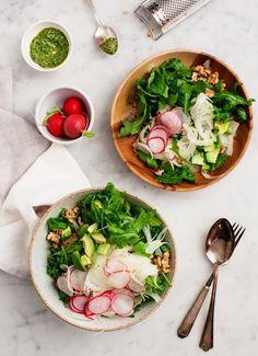 Fennel Salad with Walnuts and Avocado