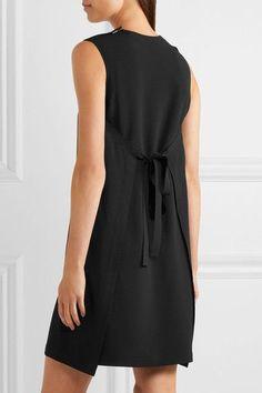 Helmut Lang - Tie-back Crepe Mini Dress - Black - US10