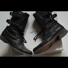 All Saints Damisi Boots New with box, never worn, gorgeous boots. Sold out from All Saints. Photo is of actual product. Women's size 9 (7/40) All Saints Shoes Combat & Moto Boots