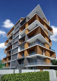 Fachada edificio pesquisa google aleat rio pinterest for Modern house yangon