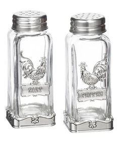 Another great find on #zulily! Rooster Salt & Pepper Shakers by GANZ #zulilyfinds.  Leda would like these!