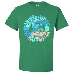 Life is an Adventure Tshirt Home is Nature No Mountain is Too High Natural Life Camper Adult Unisex T-Shirt Unisex Gifts, Life Is An Adventure, Natural Life, Camper, Nature, Mens Tops, T Shirt, Mountain, Design