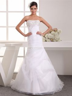 Remy - sirena cuore abito da sposa in raso con ricami