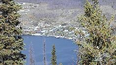 View of Western Riviera and Grand Lake from the Lookout Fire Station on Shadow Mountain