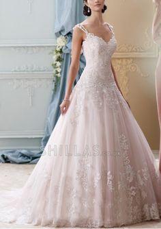 Ivory Shoulder Straps Wedding Dress - 1507861 - Wedding Dresses 2016