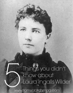 Today is the birthday of Laura Ingalls Wilder. The woma …
