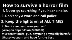 This fixes most if not all of the mistakes made by the victims of horror stories.