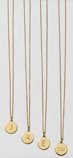 cute kate spade 'one in a million' pendant necklaces http://rstyle.me/n/k8g6vr9te