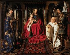 Jan van Eyck (Flemish, 1390-1441) - The Madonna and Child with Canon van der Pael, 1436