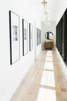 Modern mountain home tour: guest wing home sweet home ev dek Entryway Gallery Wall, House Design, House, Interior, Modern House, New Homes, House Interior, Modern Mountain Home, Hallway Designs