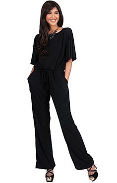 3f0d80707aa7 KOH KOH Women Short Sleeve Long Pants One Shoulder Cocktail Casual One  Piece Jumpsuit Jumpsuits Pant Suit Suits Romper Rompers Playsuit Playsuits