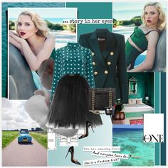 Scarlett Johansson by rainie-minnie on Polyvore featuring polyvore fashion style Balmain Ballet Beautiful Christian Louboutin Tory Burch Bare Escentuals NARS Cosmetics Gucci SCARLETT