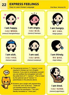 Korean language: Express feelings #LearnKorean #StudyKorean #KoreanLanguage