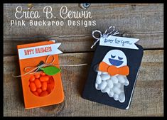 Hello everyone! I've got a quick post for ya today.       A really quick gift you can make for Halloween are these super simple Tic Tac Ho...