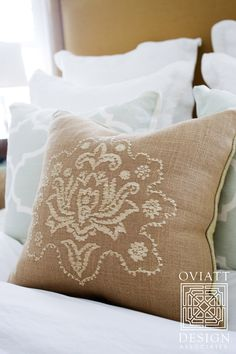 Soft , Neutral Mix of Bedding .