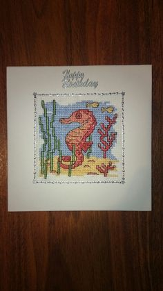 Sea horse birthday card
