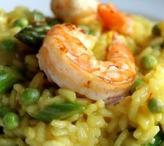 Egg Pasta With Saffron, Shrimp, And Peas Recipes — Dishmaps