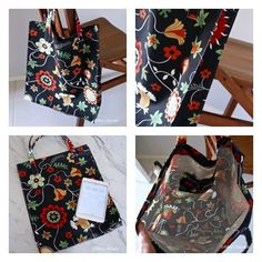 Tote bag tutorial; made in less than 45 minutes. Join the anti-plastic-bags revolution.   Libby's Lifestyle.