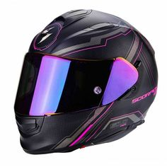 Full Face Helmets and Motorcycle Headgear For Sale Online - Scorpion Air Sync Pink - ? Pink Motorcycle Helmet, Pink Helmet, Womens Motorcycle Helmets, Black Helmet, Motorcycle Girls, Bobber Motorcycle, Biker Chick, Biker Girl, Futuristic Helmet