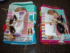 End of the School Year Teacher Gift ~ a beach towel, magazine, sunscreen & sunglasses... tie it together and attach a card
