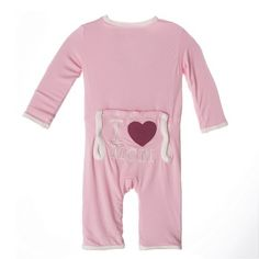 Kickee Pants I Love Mom Applique Coverall - Lotus
