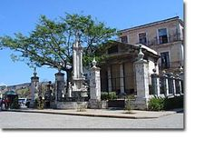 El Templete- Havana Cuba. In this place where the foundation of the town of San Cristobal de la Habana, was celebrated in 1519.Close to the templete there is a column which replaces a silk-cotton tree, under which the First Mass and the First Council of Havana were celebrated