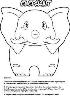 Make your world more colorful with printable coloring pages from Crayola. Our free coloring pages for adults and kids, range from Star Wars to Mickey Mouse Elephant Coloring Page, Animal Coloring Pages, Free Coloring Pages, Letter E Craft, Preschool Crafts, Crafts For Kids, Elephant Crafts, Elephant Pictures, Puppet Patterns