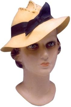 In the 1930s, slouchy felt fedoras tied with grosgrain bows were all the rage among college co-eds.