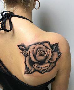 Pin on Tattoos Rose Tattoos For Women, Black Rose Tattoos, Sleeve Tattoos For Women, Cross Tattoo Designs, Flower Tattoo Designs, Flower Tattoos, Mom Tattoos, Body Art Tattoos, Hand Tattoos
