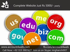 Account4WEB || Web Hosting in Pakistan.: Professional Website In Just Rs 5000/- || Account4...