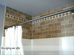 #27. Spruce up the wall space between your shower insert & ceiling. -- 27 Easy Remodeling Projects That Will Completely Transform Your Home