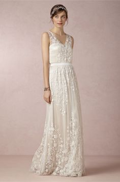 Check out these 7 wedding dresses you'll love FOREVER: BHLDN Sian Gown.