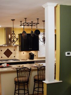 Learn how to build a column on top of a knee wall with these step-by-step instructions from DIY Network's Kitchen Impossible on DIYNetwork.com.