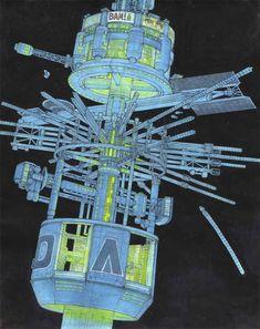 "Ron Cobb - ""Space Truckers"" Future Transportation, Cyberpunk Art, Sci Fi Fantasy, Art Inspo, Science Fiction, Illustrators, Cool Art, Medieval, Concept"