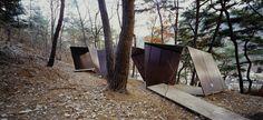 Paper Snake   kengo kuma and associates Wooden Pavilion, Pocket Park, Kengo Kuma, Forest Path, Beautiful Forest, Environment Design, Public Art, Landscape Architecture, Installation Art